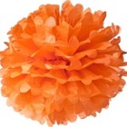 15inch Tangerine Orange Pom