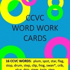 16 CCVC Word Work Cards