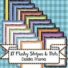 17 Amazing Flashy Stripes Doodle Frames