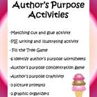 17 Author&#039;s Purpose Activities - 31 pages!