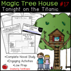 #17 Magic Tree House- Tonight on the Titanic Questions