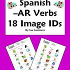 Spanish AR Verbs 18 Vocabulary IDs Worksheet