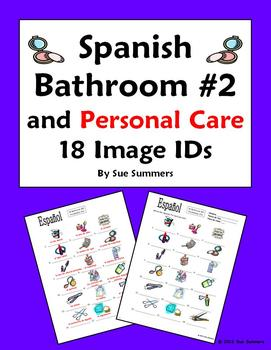 18 Spanish Bathroom & Toiletry Vocabulary IDs#2