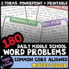 180 Daily Middle School Word Problems