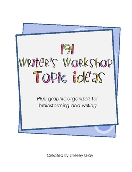 191 Writing Workshop Topic Ideas! Plus: organizers for writing