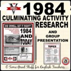 1984 Group Research and Presentation Activity