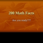 199 Math Facts!