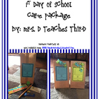 1st Day of School Student Care Package Note/Sign