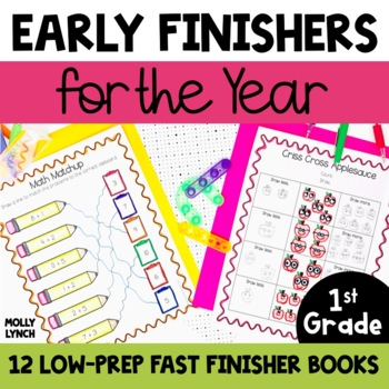 1st Grade BAT Book - 90 Common Core Activities for Early Finishers & Free Time!