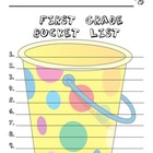 1st Grade Bucket List