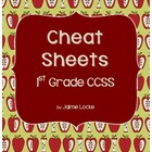1st Grade CCSS Cheat Sheets