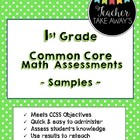 1st Grade CCSS Math Assessment Sample