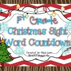 1st Grade Christmas Sight Word Countdown