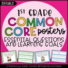 1st Grade Common Core {Essential Questions & Learning Goal