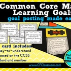 1st Grade Common Core Learning Goals {Posters, Targets, Ob