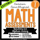 1st Grade Common Core Math Assessment-Operations and Algeb