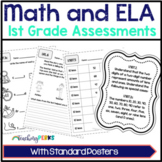 1st Grade Common Core Math and ELA Assessments Mega Pack
