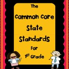 1st Grade - Common Core State Standards