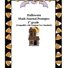 1st Grade Halloween Math Journal Prompts
