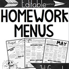 1st Grade Homework Calendars & Assessments