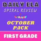 1st Grade Language Arts Worksheet Pack (October) {Common C