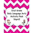 1st Grade Language Arts Worksheet Pack (April) {Common Cor