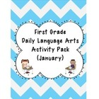 1st Grade Language Arts Worksheet Pack (January) {Common C