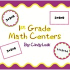 1st Grade Math Centers-Memory & True False