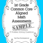 1st Grade Math Common Core Assessments SAMPLE