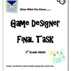 "1st Grade Math Common Core ""Game Designer"" Performance Task"