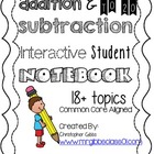 1st Grade Math Interactive Student Notebook / Math Journal