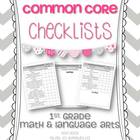 1st Grade Math & Language Arts Common Core Checklists
