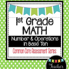 1st Grade Math Measurement Data 1.MD Geometry 1.G Common C