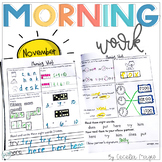 1st Grade Math and Literacy Common Core Morning Work 4th M