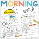 1st Grade Math and Literacy Common Core Morning Work for t