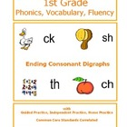 1st Grade Phonics Unit - Consonant Digraphs at End