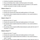 1st Grade Phonics and Grammar Pacing Plan