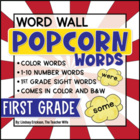 1st Grade Popcorn Word-Wall Words {Editable!}