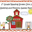 Reading Street 1st Grade Unit 2 Spelling & Phonics Game Pa