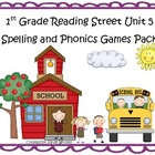 Reading Street 1st Grade Unit 5 Spelling & Phonics Games P