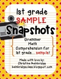 1st Grade SNAPSHOTS Sample CCSS Aligned Assessments {Try I