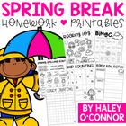 1st Grade Spring Break Practice Packet {No Prep}