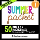 1st Grade Summer Review Pack {Common Core Aligned}