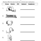 1st Grade Technology Terminolgy Worksheet