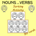 1st Grd. Nouns and Verbs Sorting Center Cards
