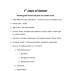1st days of school - Script