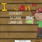 1st grade I CAN common core statements (pirate)
