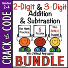 2- & 3-Digit Addition & Subtraction Practice~ Crack the Co