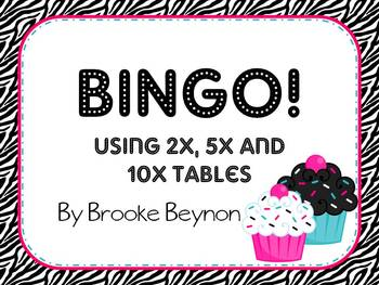 2, 5 and 10 Times Table BINGO!