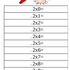 2-9 Times Tables Review